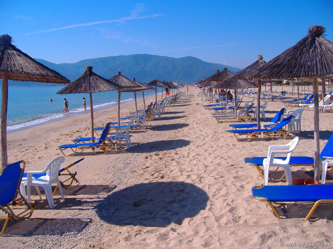In thessaloniki region hotel and rooms to rent with wide beach